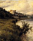 Louis Aston Knight Hilltop Chateau painting
